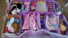 Every so often I walk in to my girls' room and realize that it resembles a nuclear fallout zone. Lately, their American Girl dolls ( and Tar...