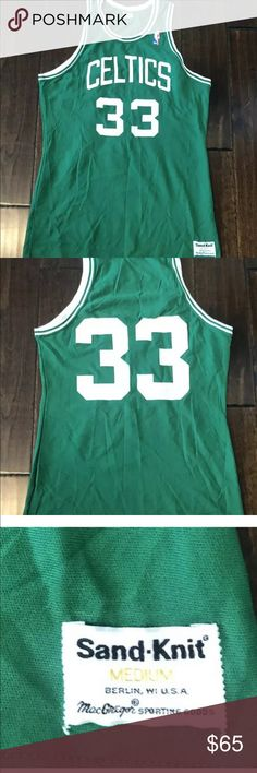 super popular 80d09 4b7e5 Larry Bird Boston Celtics McGregor SandKnit Jersey Larry Bird Boston Celtics  McGregor Sand-Knit Vintage