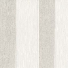 Grey stripes in a woven texture are set between textured white stripes. The color palette and pattern make this wallpaper a traditional and classic choice. Lourdes is an unpasted, non woven wallpaper.