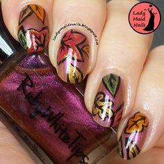 Lady Maid Nails: September Challenge Fall Nail Art