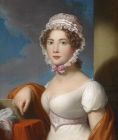 ab. 1810 Anonymous - Portrait of A Young Lady with Lace Cap