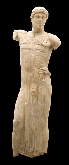 Fine example of the Greek Art - The Motya Charioteer , winner of a chariot race 2,500 years ago , found in Sicily where the Greek Civilization thrived