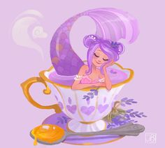 Lavender Tea Mermaid by Julia Blattman