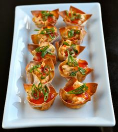 e is for eat: S is for: Super Bowl Snacks, Part II: Muffin Pan Mania Recipes Appetizers And Snacks, Appetizers For Party, Wonton Appetizers, Sauce Pizza, Low Fat Cream Cheese, Baked Shrimp, Asian Recipes, Ethnic Recipes, How To Cook Shrimp