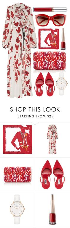 """""""Red + White"""" by cherieaustin ❤ liked on Polyvore featuring Chanel, Johanna Ortiz, Judith Leiber, Daniel Wellington and Anastasia Beverly Hills"""