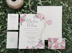 Wedding invitations: chaby chic style with roses.  www.comobranco.com @marryinportugal #comobranco