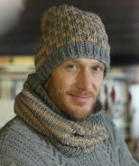 Cap and infinity scarf, S8928 - Free Pattern