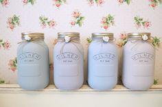 Painted 1 Litre Kilner Jars at lauren kate interiors