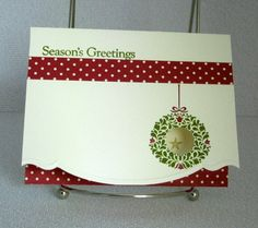 Two Choices of Christmas Cards Handmade Seasons by PaperCraftLady on Etsy