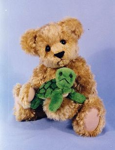 Teddy Bear and his little turtle friend patterns.