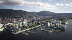 Image 3 of 10 from gallery of MAD Arkitekter and Asplan Viak Release Feasibility Study for Urban Dock Development in Norway. Courtesy of Mad Arkitekter and Asplan Viak Master Plan, Birds Eye View, Bergen, Norway, Dolores Park, Mad, Study, Exterior, Architecture