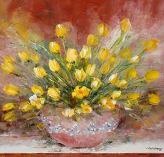 Lalelele ... aceste mici fericiri colorate ale primăverii. Art Pictures, Flower Art, Flowers, Painting, Art Images, Art Floral, Painting Art, Paintings, Royal Icing Flowers
