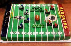 Ravens Redskins Football field cake — Football / NFL