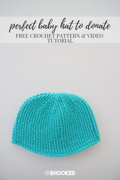 Perfect crochet baby hat to donate. Click through for the free pattern! #BHooked #Crochet #FreeCrochetPattern