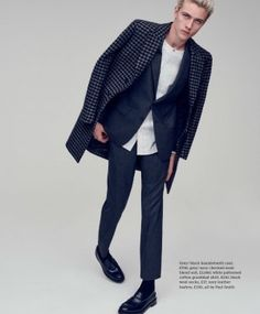 Lucky Blue Smith Dons Suiting for Esquire Big Black Book