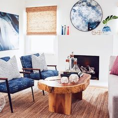How about those indigo chairs? Love. Pretty much love everything about this room by @alexismanferinc Don't you? Starting off the room redo vote with this beauty! Want to see how we'd recreate if for less? Vote now! The pic with the most likes will be our next room redo! #CopyCatChic