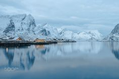 sakrisoy - view on the small island of sakrisoy on the lofoten in northern norway.