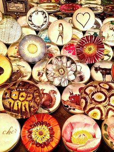 John Derian paperweights in his NYC shop #paperweights #John Derian