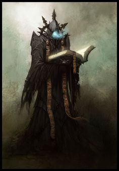 """Chaos Librarian from """"Warhammer Online: Age of Reckoning"""" by daarken Warhammer Fantasy, Fantasy Rpg, Dark Fantasy Art, Fantasy World, Warhammer Art, High Fantasy, Fantasy Artwork, Illustration Fantasy, Dungeons And Dragons 5"""
