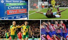 Chelsea v West Ham Premier League and more: clockwatch live!
