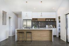kitchen - love the splashback... Fernbank 238, Display Homes in ACT | G.J. Gardner Homes