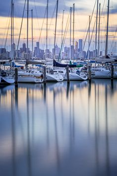 City Behind Boats - australia melbourne Melbourne Australia, Australia Travel, Melbourne Travel, Cold Front, Calm Before The Storm, Melbourne Victoria, Traveling With Baby, Travel Goals, Continents