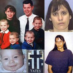 Andrea Yates, former Houston, Texas resident, killed her five children on June 20, 2001 by drowning them in the bathtub.