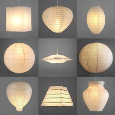 Pair Of Modern Paper Ceiling Pendant Light Lamp Shades Lanterns Lampshades White Home Furniture