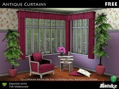Antique Curtains by Mutske  http://www.thesimsresource.com/downloads/1170395