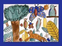 Investigate how living things depend on each other for survival needs, then use color blending to make a unique rainforest landscape of animals, plants, and insects. Animal Projects, Art Projects, Social Studies Lesson Plans, Color Blending, Program Design, Student Learning, Survival Gear, Art Lessons, Art For Kids