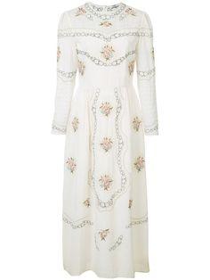 VILSHENKO Embroidered Midi Dress. #vilshenko #cloth #dress