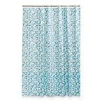 BBB: Stained Glass 70-Inch x 72-Inch Shower Curtain in Blue/Green $14.99