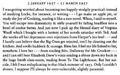 Slyvia Plath adored Virginia Woolf the way I adore her