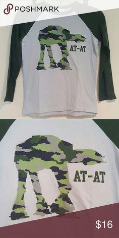 Gap X Junk Food Star Wars Tee At at baseball tee, EUC. GAP Shirts & Tops Tees - Short Sleeve