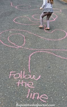 Sidewalk Chalk Games & Activities for kids. Fun outdoor play spring, summer…