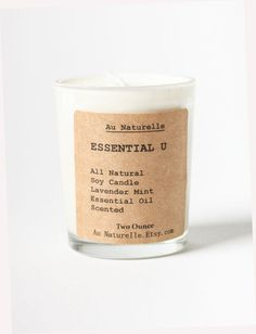 Soy Candle by Au Naturelle