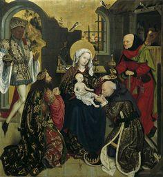 Meister des Schottenaltars, Anbetung der Heiligen Drei Könige, um 1470 | © © Belvedere, Wien