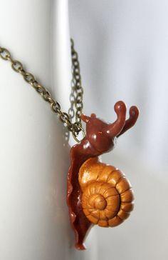 Garden Snail Necklace by *NeverlandJewelry