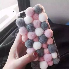 New hot candy cute plush ball soft bag case cover skinfor apple iphone 6 plus Bling Phone Cases, Iphone Phone Cases, Iphone 6, Apple Iphone, Diy Case, Diy Phone Case, Hot Candy, Diy Friendship Bracelets Patterns, Diy Cushion