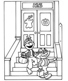 Elmo halloween coloring pages other kids coloring for Sesame street halloween coloring pages