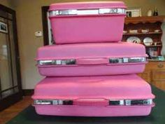 Pink luggage!