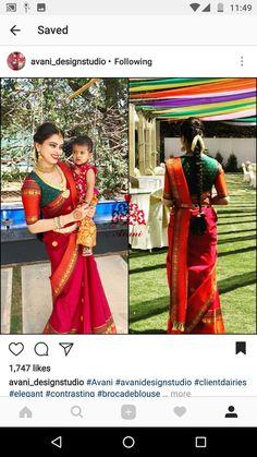 Saree Blouse Neck Designs, Fancy Blouse Designs, Saree Blouse Patterns, Saree Hairstyles, Stylish Blouse Design, Indian Wedding Outfits, Indian Outfits, Saree Look, Elegant Saree