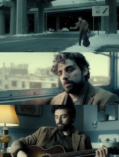 Cool blue interior tone  Inside Llewyn Davis, 2013 (Ethan/Joel Coen). Cinematography by Bruno Delbonnel.