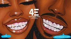 Black Couple Art, Black Love Art, Black Girl Art, Black Girl Magic, Black Art Painting, Black Artwork, Black Girl Aesthetic, Aesthetic Art, Half Elf
