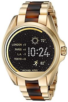 838053f55b631 Women s Smartwatches - Michael Kors Access Touch Screen Gold Acetate  Bradshaw Smartwatch MKT5003