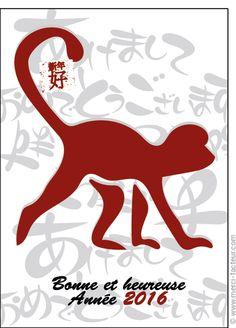 #carte #nouvelan #chinois #chine #signe #singe Carte Le signe du zodiaque chinois pour envoyer par La Poste, sur Merci-Facteur ! Chinese Zodiac Signs, Double Exposure, Paper Cutting, Tattoo, Chinese New Year Card, Monkeys, Thanks, Double Exposure Photography, Tattoos