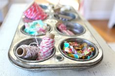 Blog post on ideas for organizing with vintage items