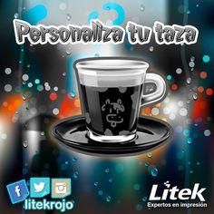 Un detalle puede dejar una gran impresión! Personaliza tu taza y vuelve la hora del cafecito más original! ☕ #Litek #ExpertosEnImpresión #PiensaRojo