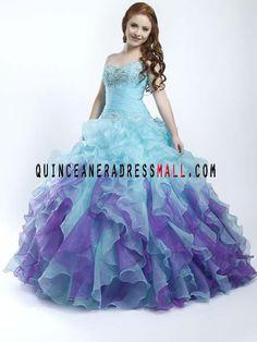 detachable quinceanera dresses blue and purple | neck beading blue and purple multi colors quinceanera 15 dresses ...