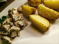 Kartoffelwedges mit Schreddies-Pilz-Soße - Fitness für Anfänger und Fortgeschrittene